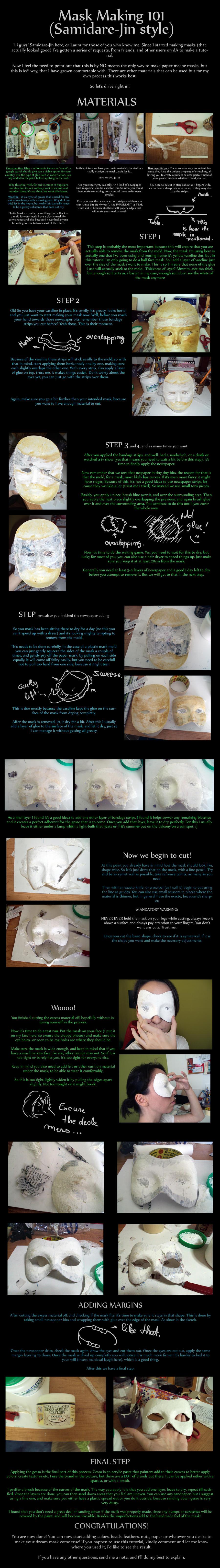 Mask Making Tutorial by Samidare-Jin