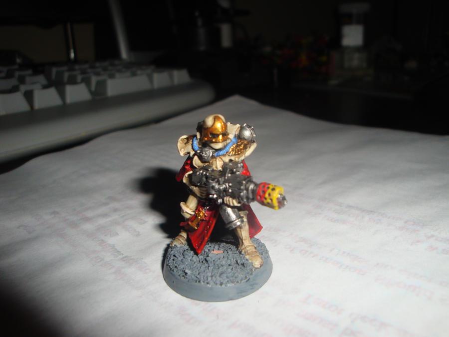 Marble armoured Flamer Veteran by Blarghmeister