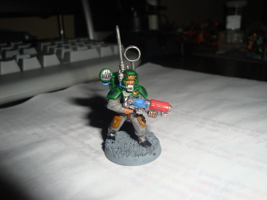 Veteran with Plasmagun by Blarghmeister