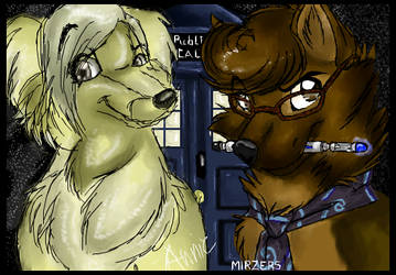 Doctor Who canines by mirzers