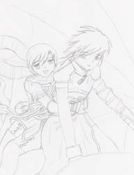 Nel and Albel pic W.I.P. by mirzers