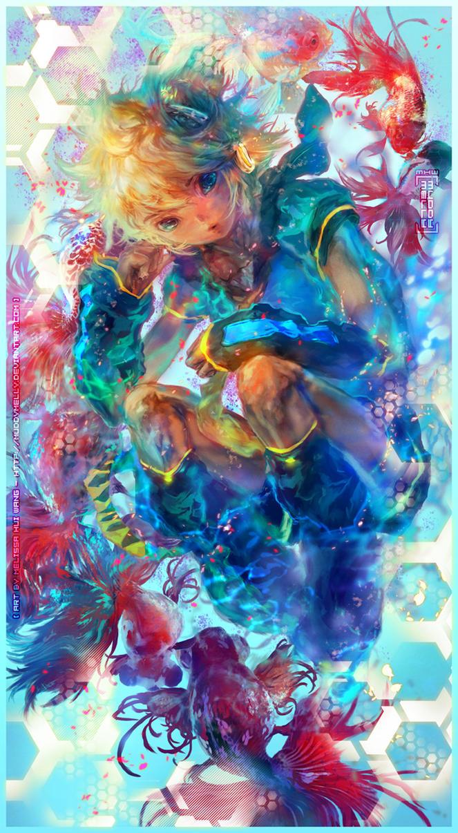 Commission: Kagamine Len by muddymelly