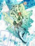 Commission: Hatsune Miku by muddymelly