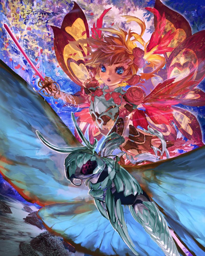 Dinacy 3/4 (C) CyberAgent - 'Tenku no Crystalia' by muddymelly