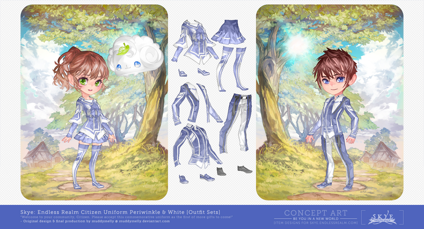 [Skye: Endless Realm] Item Designs by muddymelly
