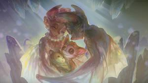 [Gift Art] - Little Bat Family (free .PSD!)