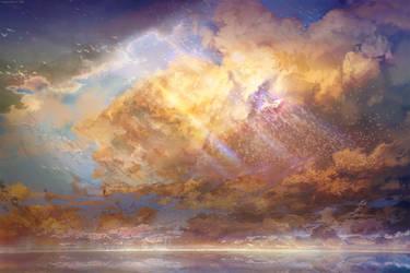 Sky-High (free .PSD files!) by muddymelly