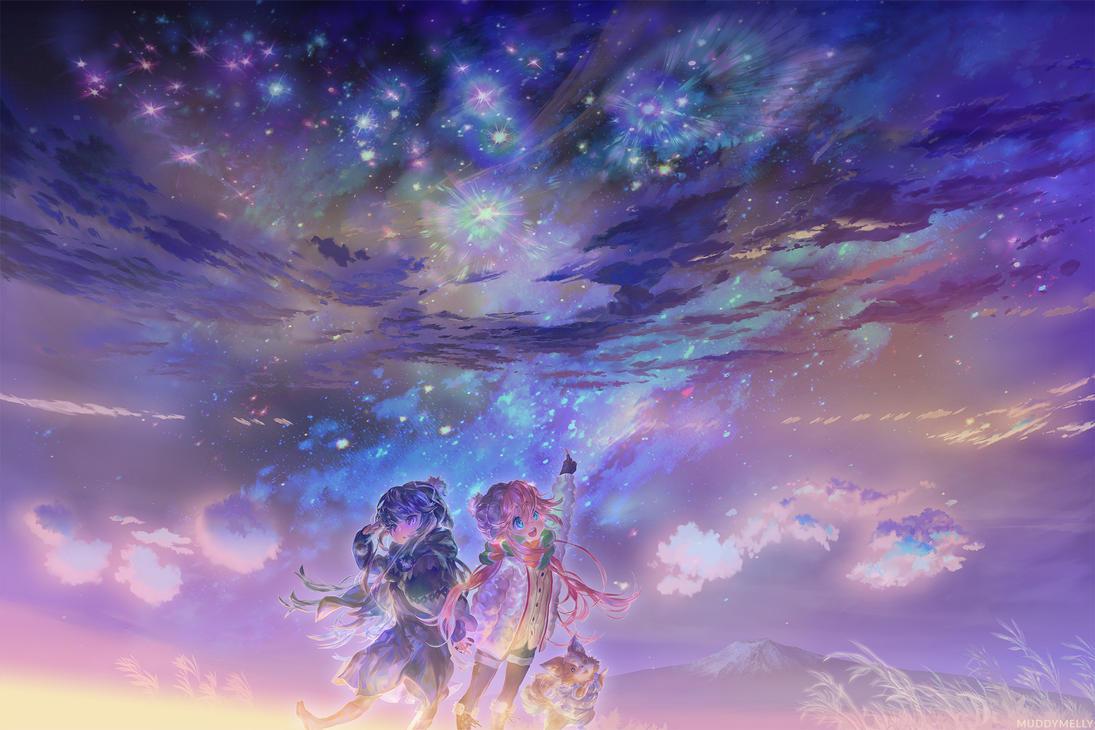 Yuru Camp | Rin + Nadeshiko by muddymelly