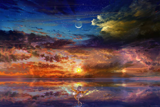Dragon Girl Sunset