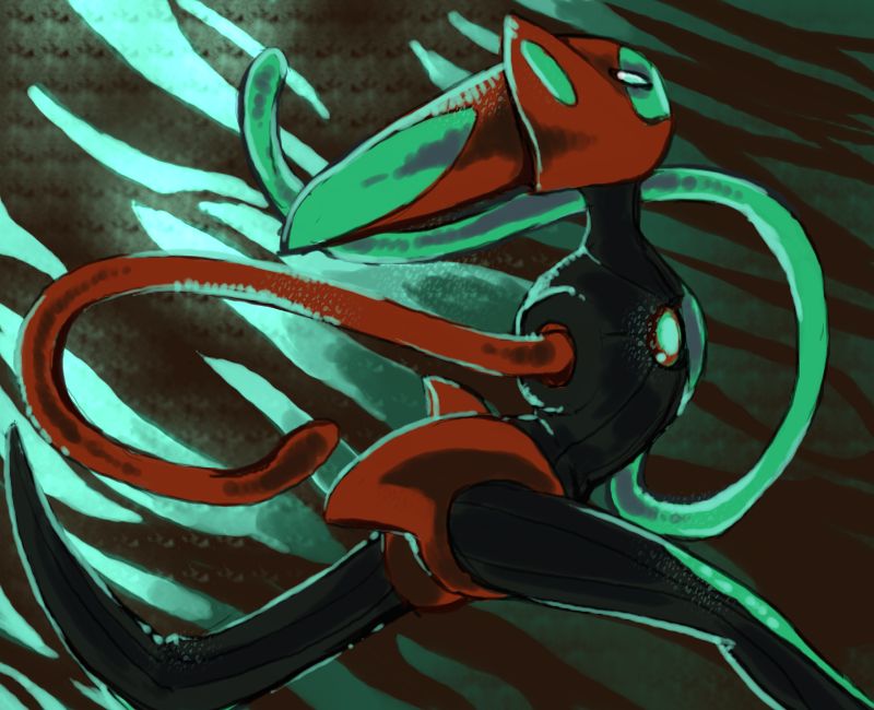 Speed form Deoxys by Dusclord-005 on DeviantArt