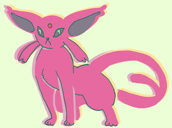 A simple Espeon by Dusclord-005