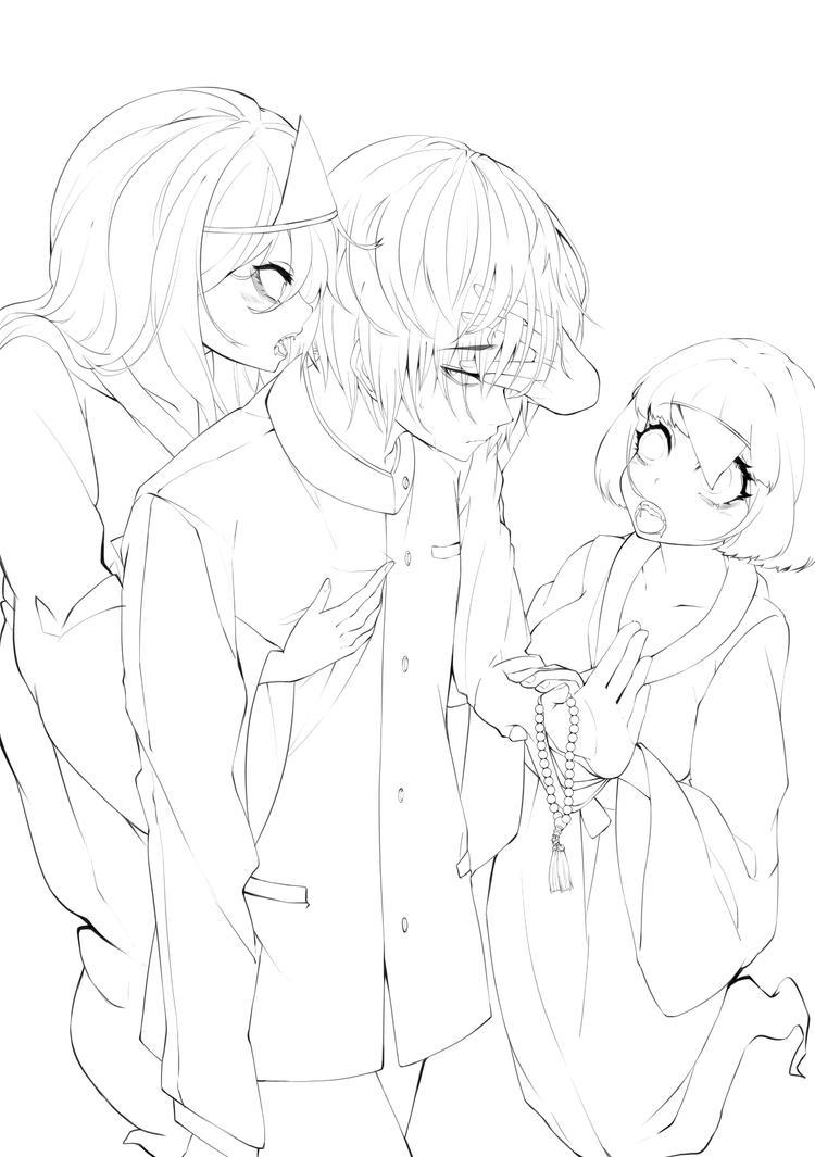 Medium Constitution_Line Art by NanaseAkira