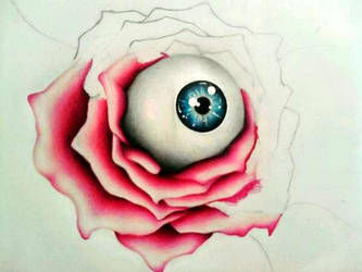 Rose Eyeball by skullsinbloom