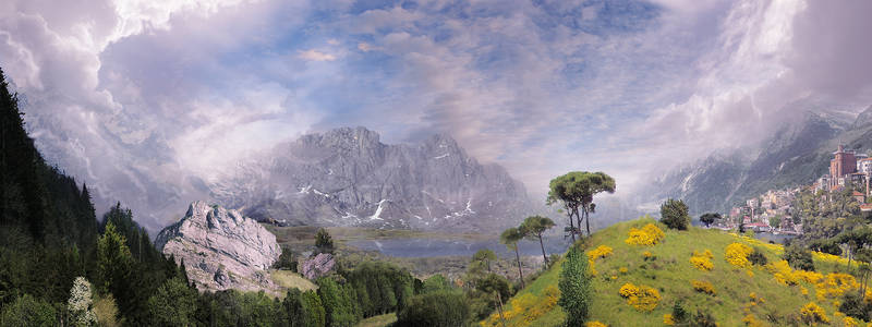 Landscape Flyby Matte