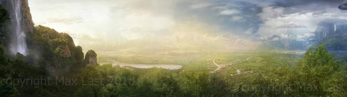 Landscape Flyby Matte v2 by PlasmaX7