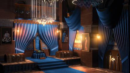 Royal Throne Room by PlasmaX7