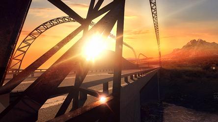 Sunset Bridge by PlasmaX7