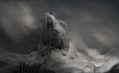 Snowy Mountains Quick Sketch1 by PlasmaX7
