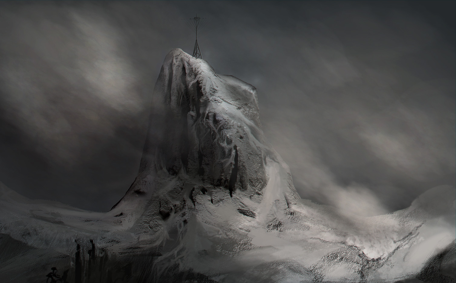 Snowy Mountains Quick Sketch1