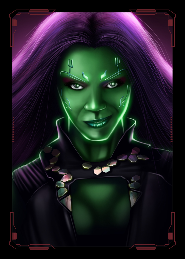 Guardians of the Galaxy Gamora by NZO68