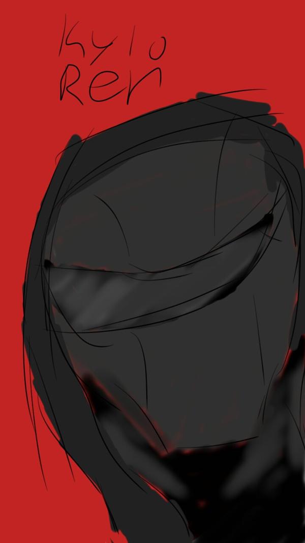 Kylo ren sketch by rogueassain