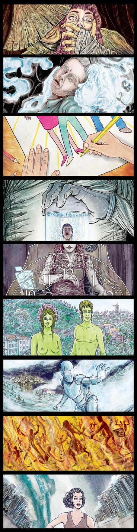 The Solarpunk Anthology Illustrations by Baetones