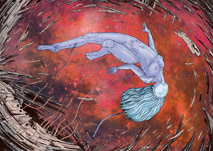 Pink Ice in the Jovian Rings (2.1) by Baetones