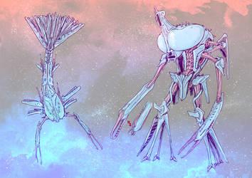 Aquatic alien mech concept