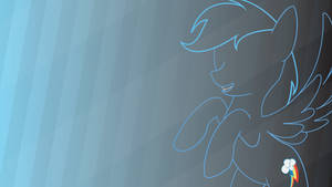 Rainbow dash - wallpaper by robojot