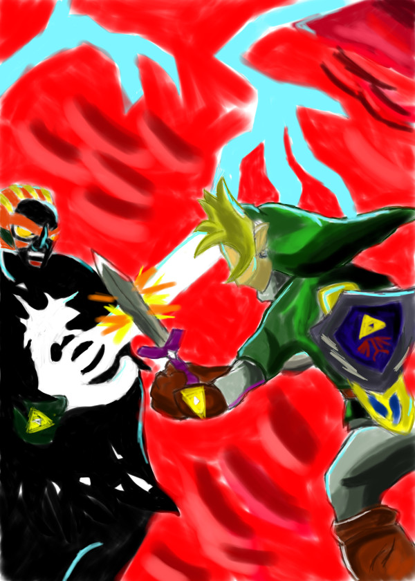 Link vs Ganondorf by sonicfan521