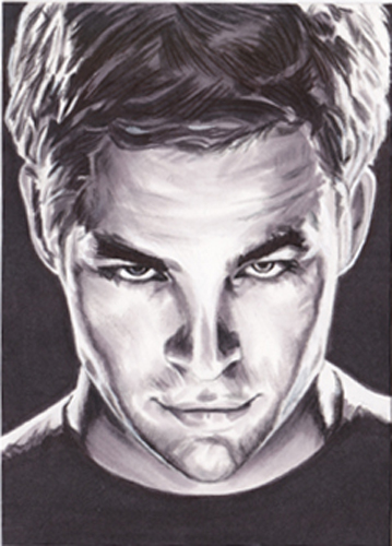 Chris Pine as Kirk by SarahSilva