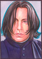Snape sketch card by SarahSilva