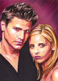 Buffy and Angel by SarahSilva