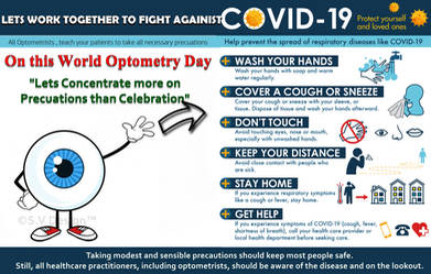 Optometrist ,Let's Fight Against COVID-19