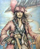 Captain Jack Sparrow by mjmjedi