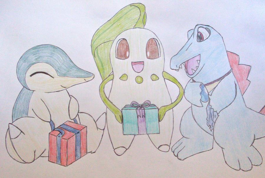 Gen 2 pokemon celbrate Christmas by Niara-Wolf