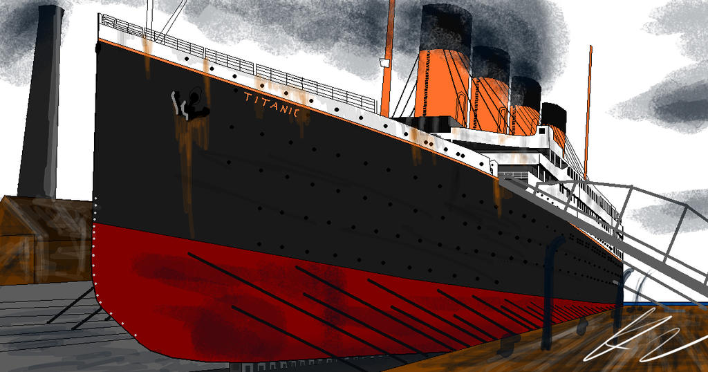 Building Titanic on paint by Admiral-Kevin