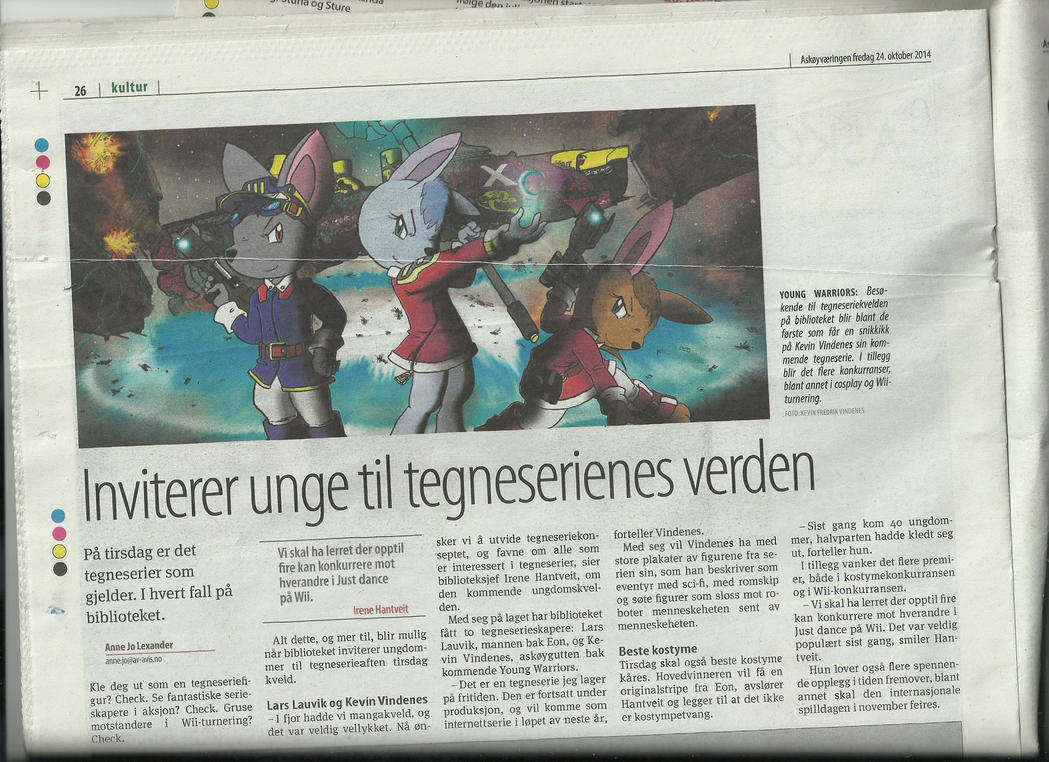 Young Warriors on the newspaper by Admiral-Kevin