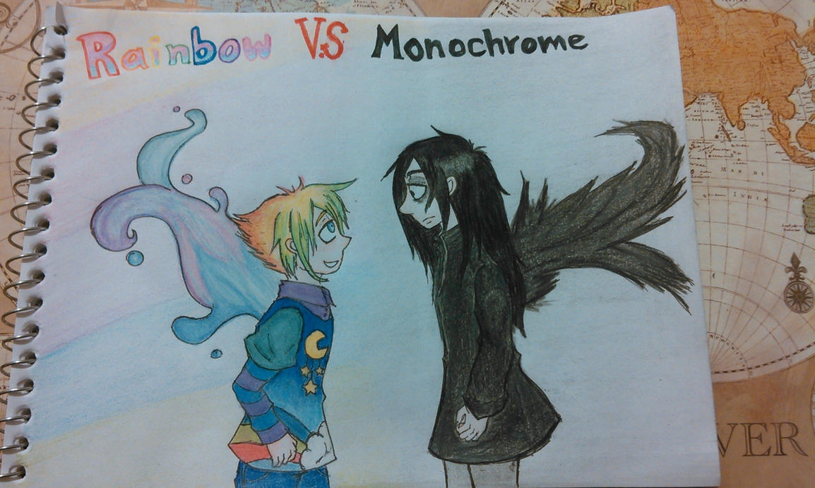 Rainbow VS Monochrome by AlphonseZero