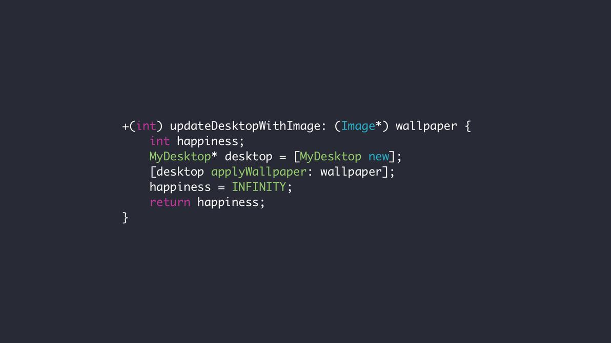 Wallpaper - updateDesktop (Obj-c) by ElectricCoffee on