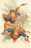 Superman_Supergirl by Takrezz
