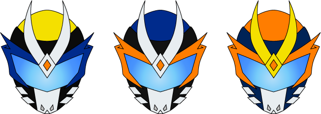 Kamen Rider Helmet (3 Versions) by Ayahime0
