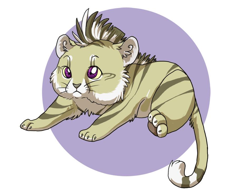Cute Chibi Tiger Chibi Tiger by Anelalani
