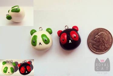 Customized Panda Charms by RoyalCatDesign