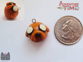 Adventure Time Jake Charm by RoyalCatDesign