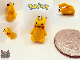 Mini Pikachu Charm by RoyalCatDesign