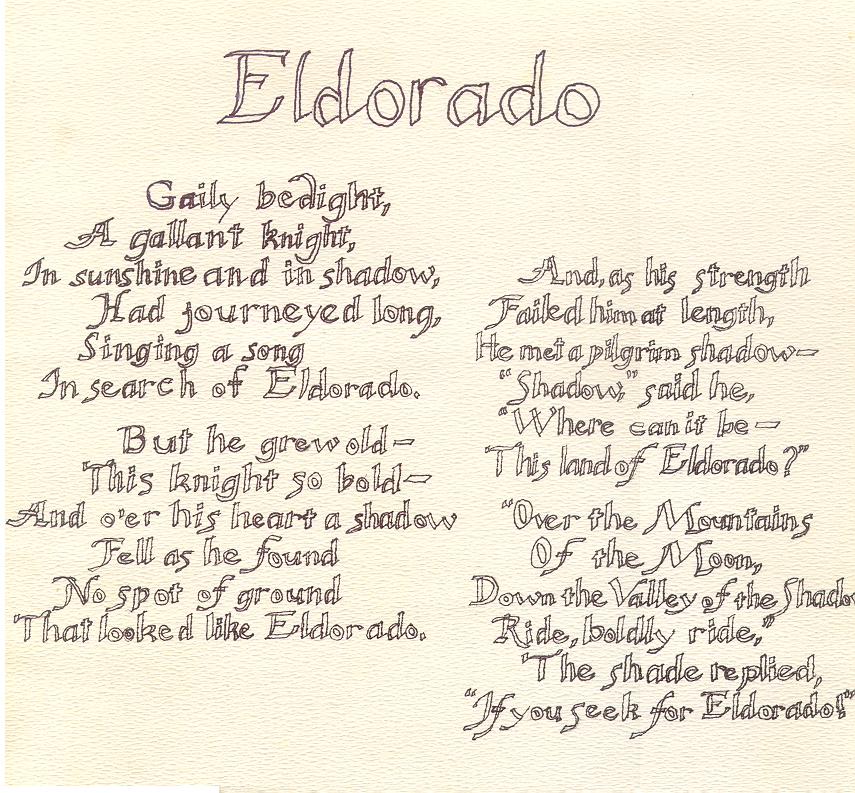 El Dorado poem by Poe by CritterRhode on deviantART