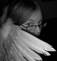 Hiding Behind my Wings by IWishIHadWingZ