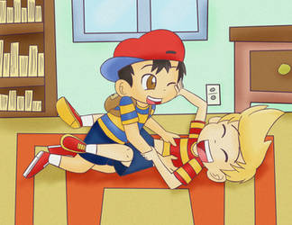 Ness and Lucas by K-b0t