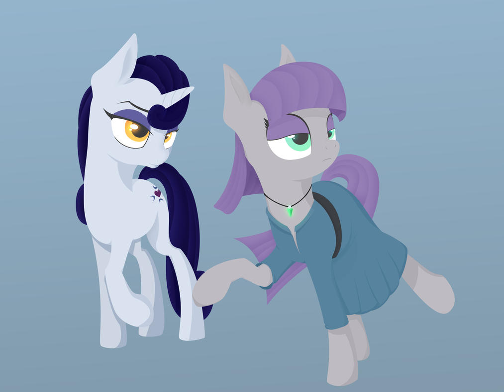 Maud Pie w/ Moonlight Raven [Collab] by TheOtherDash
